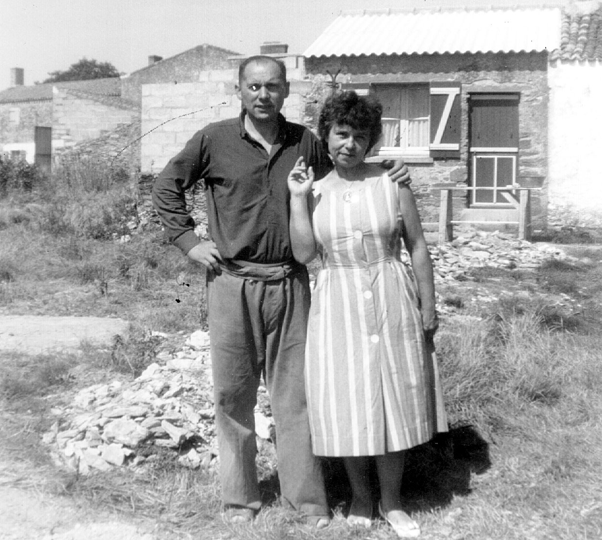 Mes parents à La Bernerie en 1964